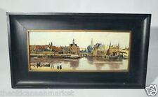 Antique Rozenburg de Haag Jan Vermeer Dutch Old Master Scene Porcelain Tile