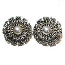 Vintage Dutch Zeeuwse Knoop Earrings Filligree  Button Clip On
