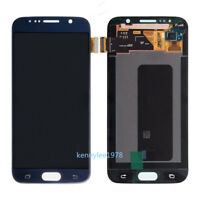 For Samsung Galaxy S6 G920 LCD Display Touch Screen Digitizer dark blue+cover