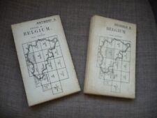 2 belles cartes militaires anglaises  de Bruxelles et Anvers 1916