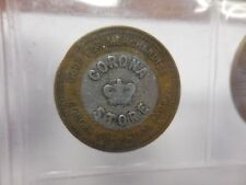 BI-METAL CORONA COAL & IRON CO. CORONA STORE 50 CENT TOKEN CORONA,ALA.-UNLISTED