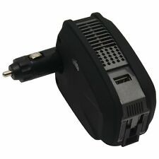 Mobile Spec 175-Watt DC to AC Power Inverter -USB Port and AC Outlet Black MS175