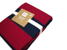 Pottery Barn Teen Cotton Multi Colors Red Navy Rugby Stripe Queen Sheet Set New