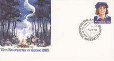 1985 AUSTRAILIA FIRST DAY EVENT COVER 75TH ANNIVERSARY OF GUIDING  LIKE SCOUTING