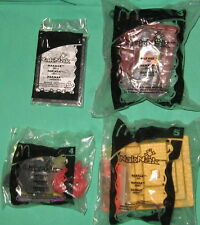 4 McDonalds NakNak Toy Stacking Battle Figure Yellow Pyramid Red Case Alien Head