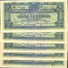 MOZAMBIQUE-PORTUGAL  LOT 5x 20 cents 1933. UNC. 8GX 04JUN