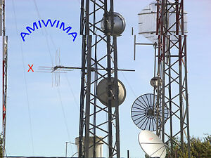 ANTENNA UKW FM Radio circular 88 108 MHz Yagi high gain best signal distribution