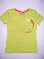 TEE SHIRT Fille PUMA neuf manches courtes taille 8 ans coloris vert chartreuse