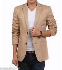 Fashion men's casual Korean Slim suit jacket original metrosexual Khaki L