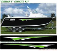 "BOAT GRAPHICS MARINE DECAL STICKER KIT ""FREEDOM 3 - 3200"""