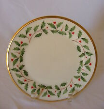 """Lenox Holiday Dimension Collection China 8"""" Luncheon Plate"""