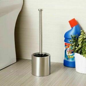 Bathroom Brushed Nickel SUS304 Free Standing Toilet Brush Holder Shelf Cup Set