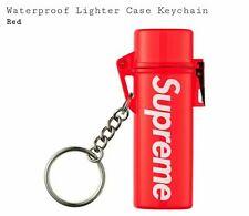 Supreme Waterproof Lighter Case Keychain Red SS20