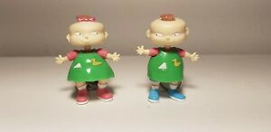 Basic Fun Rugrats Phil and Lil Keychain Nickelodeon 1997 Magnetic Action