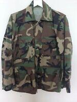 Vintage US ARMY Men Camouflage Jacket Coat Combat Woodland Military Spring S