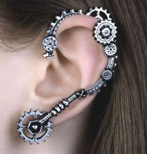 Cognition Steampunk Lots of Gears Ear Wrap Left Earring Alchemy Gothic E388