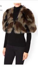 BNWT Women's / Ladies MONSOON ACCESSORIZE Vintage Fur/Feather Cape Bolero Jacket