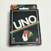Mattel Uno Card Game (Retro Edition) Brand New Family Game Night