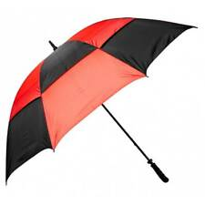 "NEW Golf Craft 68"" Windbuster Umbrella - Black/Red - Drummond Golf"