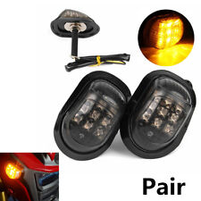 2Pcs 12V Amber Motorcycle 9LED Flush Mount Turn Signals Indicators Blinker Light