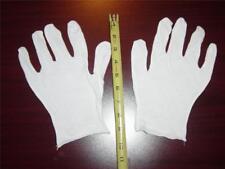 12 Pair White Lisle Cotton Inspection Gloves - Men's XL - 100% Cotton, NEW!