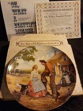 "Oh What A Beautiful Mornin Plate Mort Kunstler w/Coa ""Oklahoma !"""