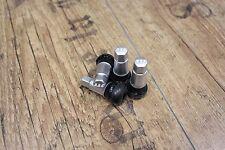4 BBS Ventilkappen/ Ventilhülsen in Silber NEU mit BBS Prägung und Gummiventil