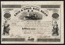 1851 The Franklin Canal Company's Erie & Ohio Rail Road