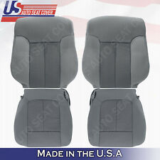 2011 To 2014 Ford F150 Driver Passenger Bottoms Tops Cloth Seat Cover Gray Steel