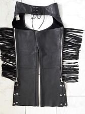 Hip Tassel Genuine Leather Motorcycle Chap Overpants MOB Classic Collection - S