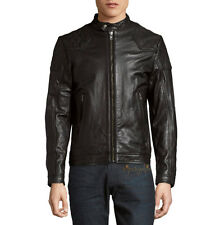 DIESEL LALETA LEATHER JACKET BLACK NEW SZ L