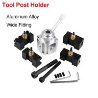 Quick Change Mini  Lathe Tool Post Holder Kit Set Aluminum Alloy US
