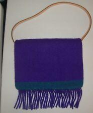 Ralph by Ralph Lauren Purple Wool Blanket fringe southwestern handbag CUTe