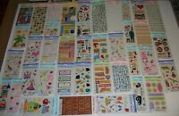 Lot #2 of 40 Packs AMERICAN GREETINGS Creative Touch SCRAPBOOKING Stickers NEW