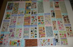 Lot of 28 Packs AMERICAN GREETINGS Creative Touch SCRAPBOOKING Stickers NEW