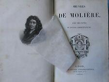 MOLIERE : OEUVRES avec sa vie par Grimarest, 1835. Bien relié.