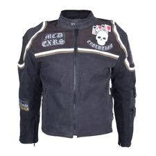 Motorrad Mickey Rourke Biker Nubuk Leder Jacke Protektoren Jacket Cuir S - 5XL