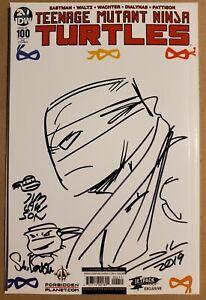 Teenage Mutant Ninja Turtles TMNT 100 Signed X3 Steve Lavigne Jim Lawson Woodall