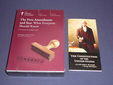 Teaching Co Great Courses CDs         THE FIRST AMENDMENT and YOU    new + BONUS