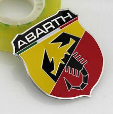 3D Auto ABARTH Aufkleber Emblem Metall Schriftzug Plakette für Skorpion Shield