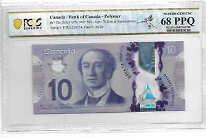 CANADA 2013 10 DOLLARS P#107c PCGS 68 SUPERB GEM UNC OPQ NOT PMG