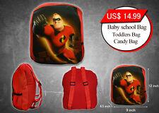 Kids Preschool School Toddler Mini Backpack Plush Soft Bag The Incredibles