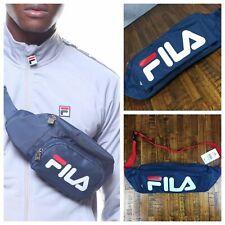 FILA Heritage Oversized Fanny Pack/Shoulder Bag Navy Red Retro Logo