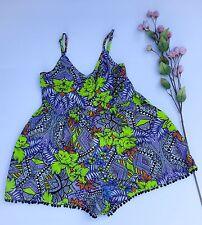 ASOS Short Romper Jumpsuit Floral Multi color size 4