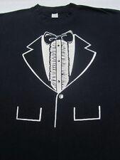 TUXEDO print vintage LARGE T-SHIRT vtg Glendale Galleria Gingiss Formalwear
