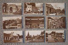 1924 British Empire Exhibition Unused Postcards Lot of 9 Pavilion Stadium Palace