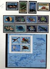 British Virgin IslandsTopical Collection  BIRDS, FISH, Reptiles Mint NH in Mount