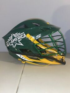 Cascade S Lacrosse Helmet - Green/Yellow, New With Defects, Removable Stickers.