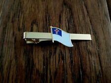 CHRISTIAN FLAG TIE BAR TIE TAC RELIGIOUS INSPIRATIONAL U.S.A MADE