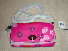 COACH F35553 FLORAL PRINT MINI RUBY CROSSBODY CLUTCH SV/PINK MULTICOLOR NEW TAGS